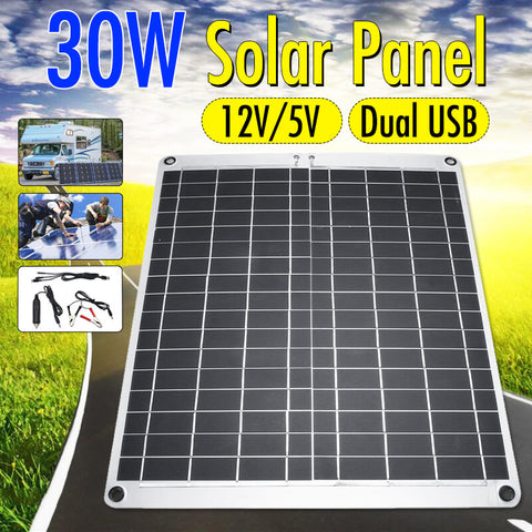 Solar Panel with USB for RV Vehicle