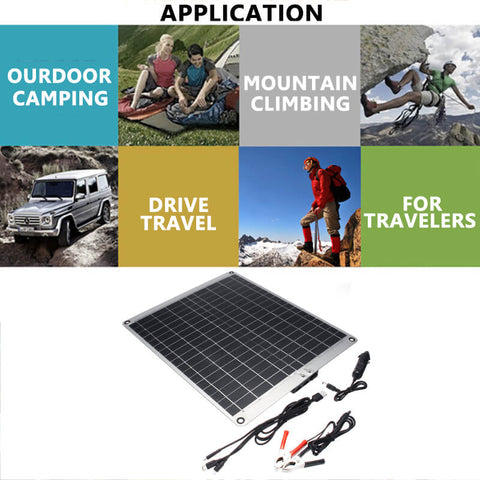 Solar Panel for RV Vehicle with USB