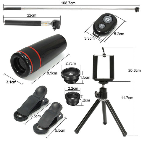 Telephoto Fisheye Lens for Smartphone all Components