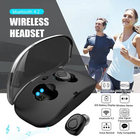 True Wireless Earbuds Stereo Noise Cancelling Headset