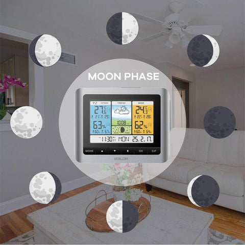 Weather-Station-Thermometer-Indoor-Outdoor Moon Phases
