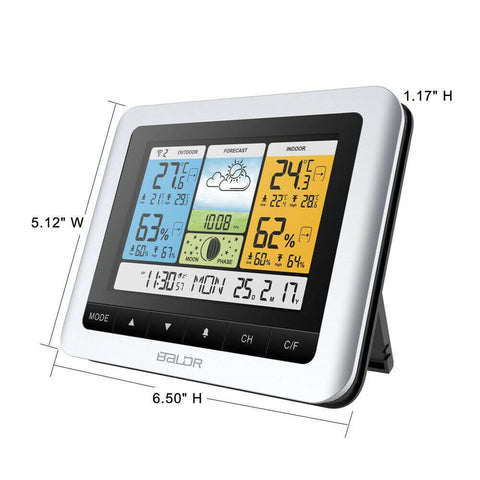Weather-Station-Thermometer-Indoor-Outdoor Dimensions