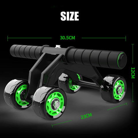 Sports fitness abdominal roller wheel for building great abs dimensions