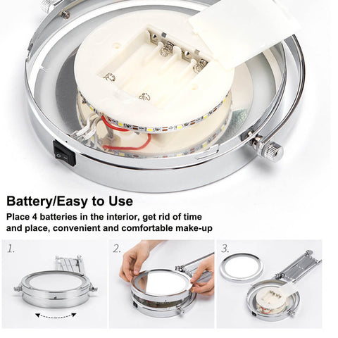 Battery Compartment of makeup mirror