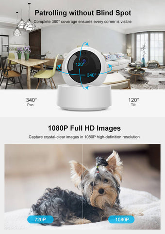 Security camera baby monitor with wifi