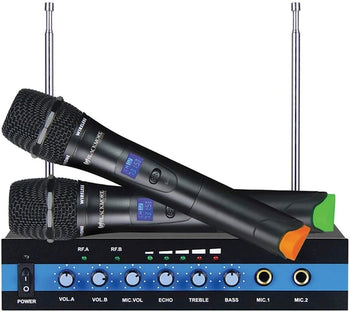 Blackmore Pro Wireless Microphone System VHF Audio BMP-60 Dual-channel