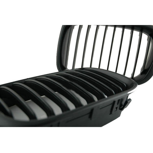 Black Front Grill Grille for 02-05 BMW E46 3 Series 4-door
