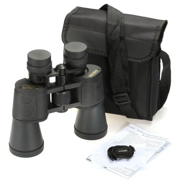 Binoculars with night and day vision, ideal for bird watching including case, strap, and instructions