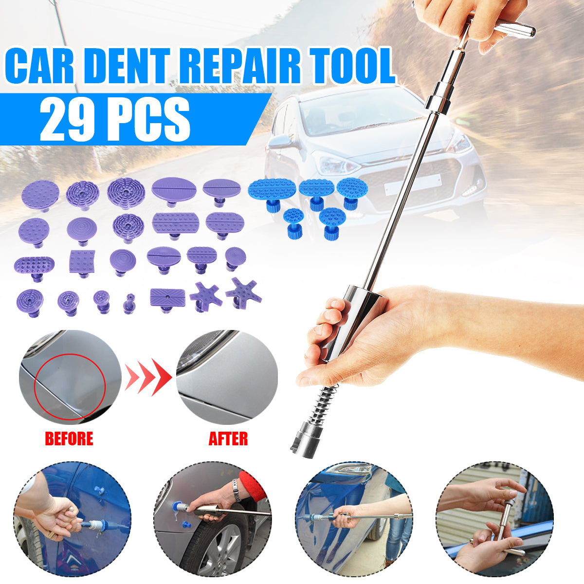 Car Dent Repair Tool Tab Accessories Body Kit 29 Pieces