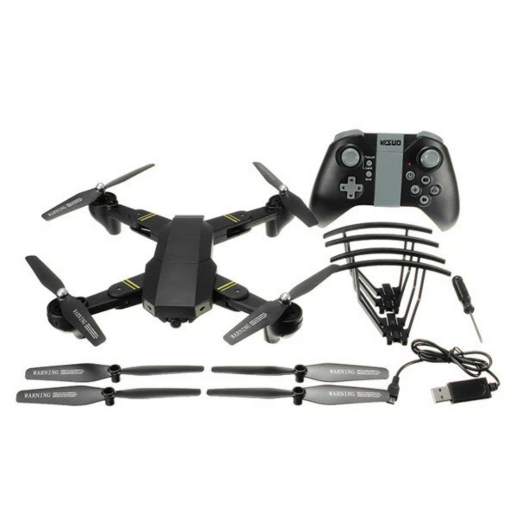 RC Drone Quadcopter WiFi Foldable With Wide Angle HD 2.0MP Camera components