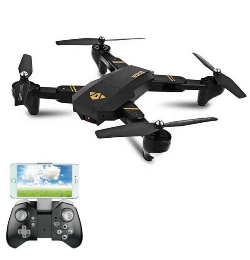 RC Drone Quadcopter WiFi Foldable With Wide Angle HD 2.0MP Camera and Controller with Smartphone