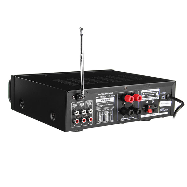Karaoke Stereo Amplifier Bluetooth 600w Power back view