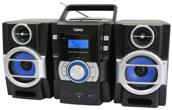Naxa Portable CD And MP3 Player With Pll FM Radio Detachable Speakers Remote