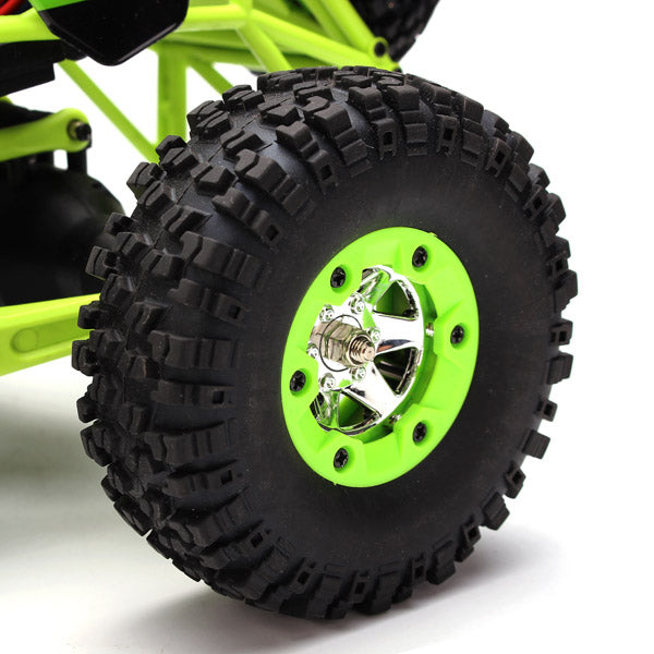 Radio Controlled Car Four Wheel Drive Crawler With LED Lights wheel close-up