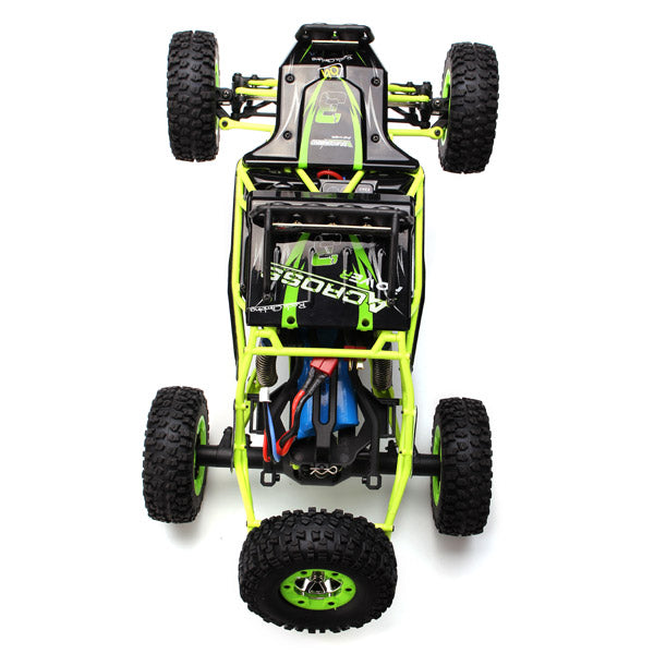 Radio Controlled Car Four Wheel Drive Crawler With LED Lights view from above