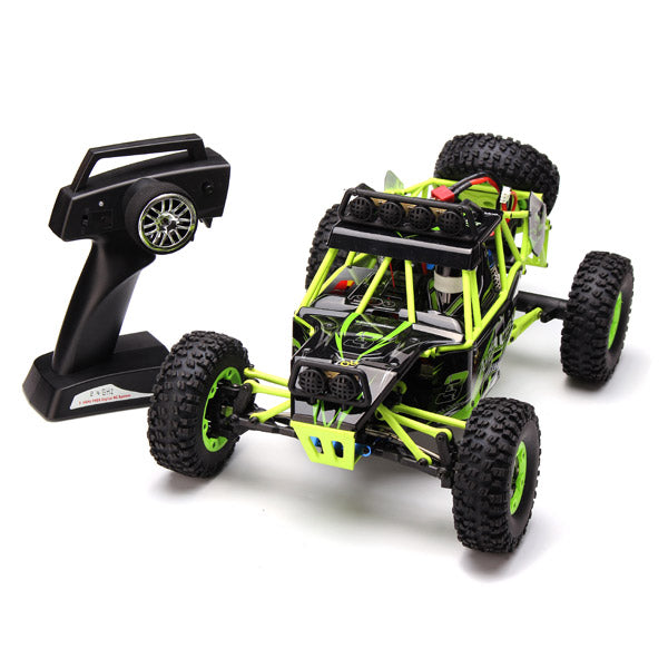 Radio Controlled Car Four Wheel Drive Crawler With LED Lights and Controller