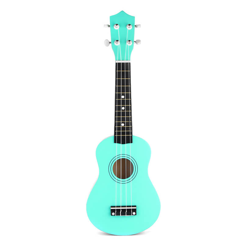 Soprano Ukulele in Basswood with Gig Bag and Tuner Green