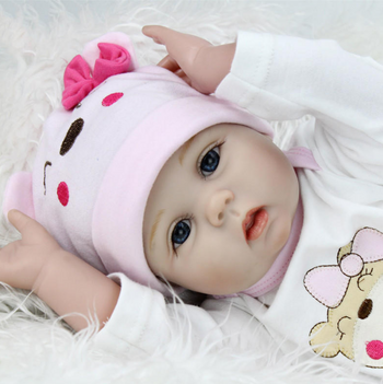 Reborn Newborn Baby Doll Girl Soft Silicone 22