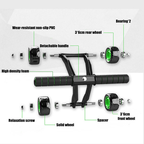 Detailed view Sports fitness abdominal roller wheel for building great abs