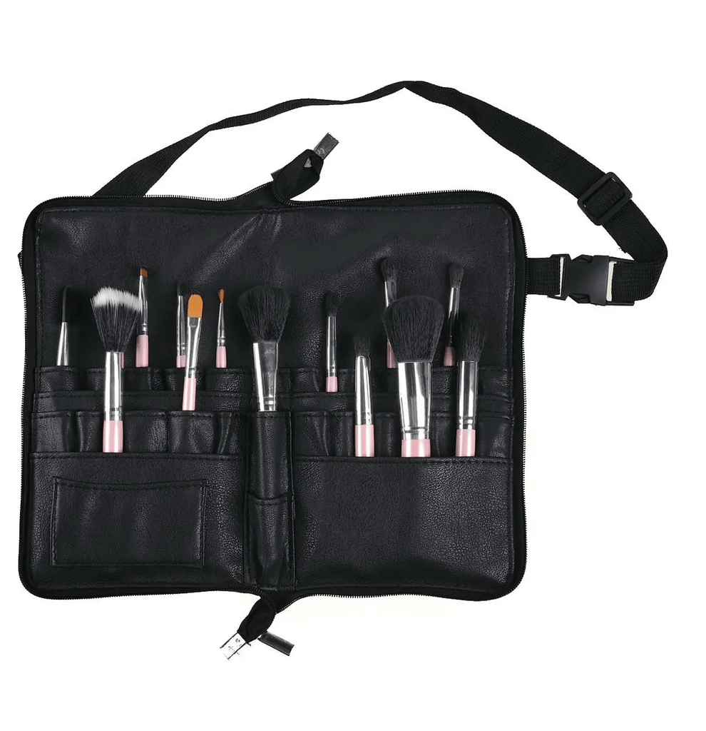 The genuine leather make up bag