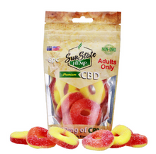 Load image into Gallery viewer, BAG GUMMY PEACH RINGS 180MG - 6PC
