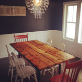 North End reclaimed wood dining table by Workshop™ - Handcrafted in Detroit