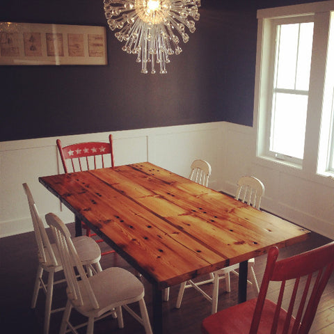 North End Reclaimed Wood Dining Table By Workshop™   Handcrafted In Detroit