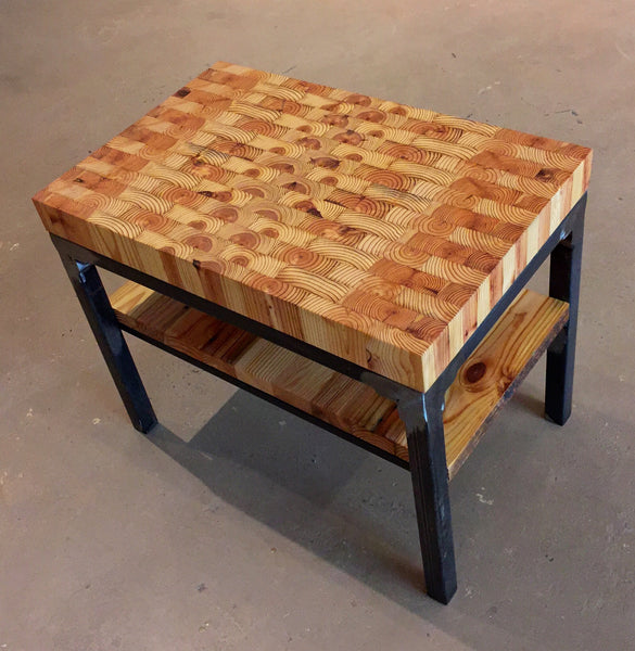 Grand Boulevard End Table With Butcher Block Top Workshop