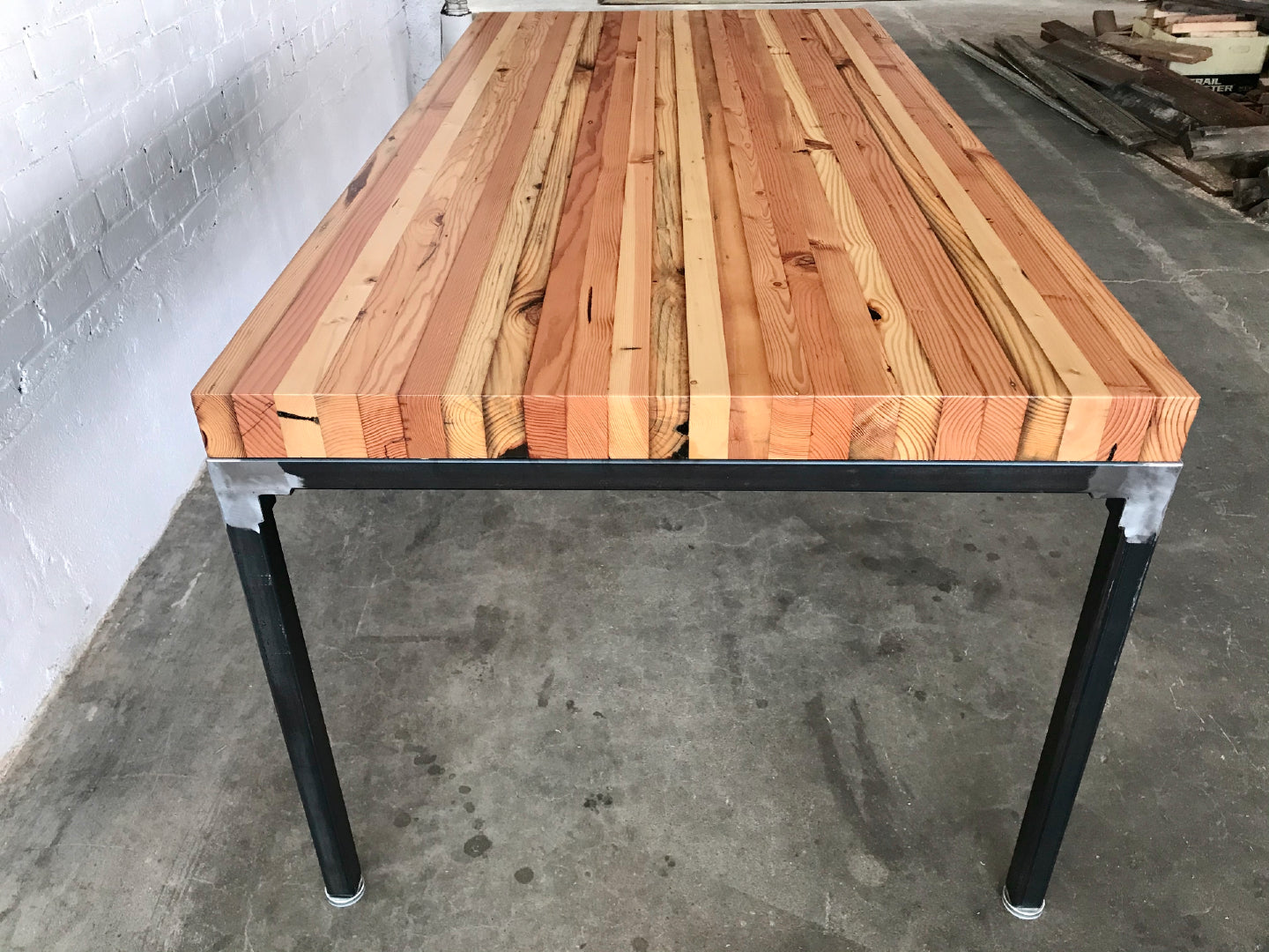 Picture of: Grand Boulevard Industrial Farmhouse Reclaimed Wood Dining Table Workshop Workshop