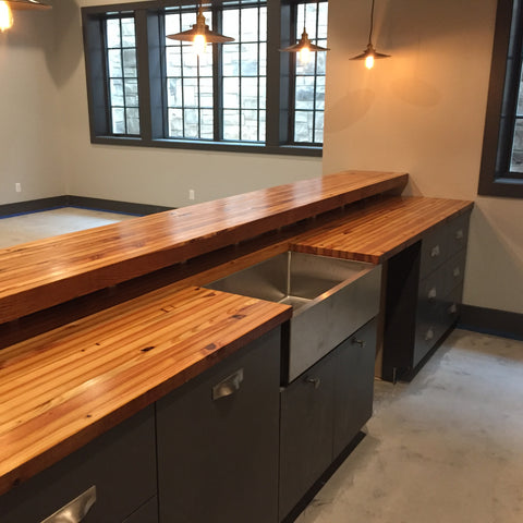 Grand Boulevard Reclaimed Wood Countertop