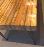 Grand Boulevard Moderne reclaimed wood dining table by Workshop™ - Handcrafted in Detroit