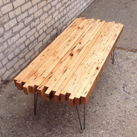 Elegant Reclaimed Wood Coffee Table From Workshop. Handmade In Detroit.