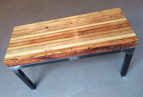 Grand Boulevard reclaimed wood bench by Workshop™ - Handcrafted in Detroit