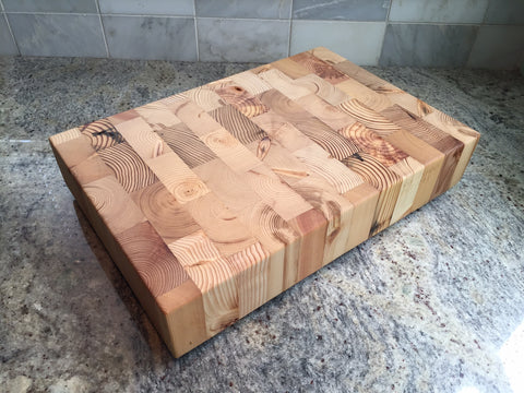 reclaimed wood end grain chopping block from Workshop
