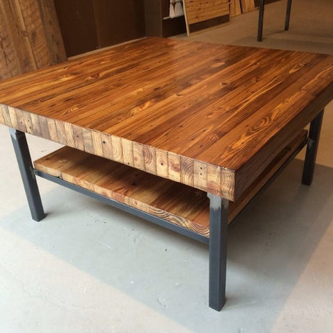 Grand boulevard industriale coffee table workshop for Coffee table 70 x 40