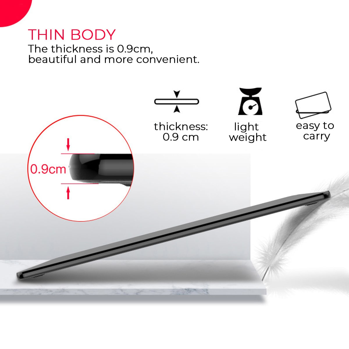 graphic tablet body