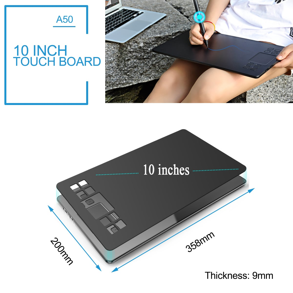 10 inch touch board