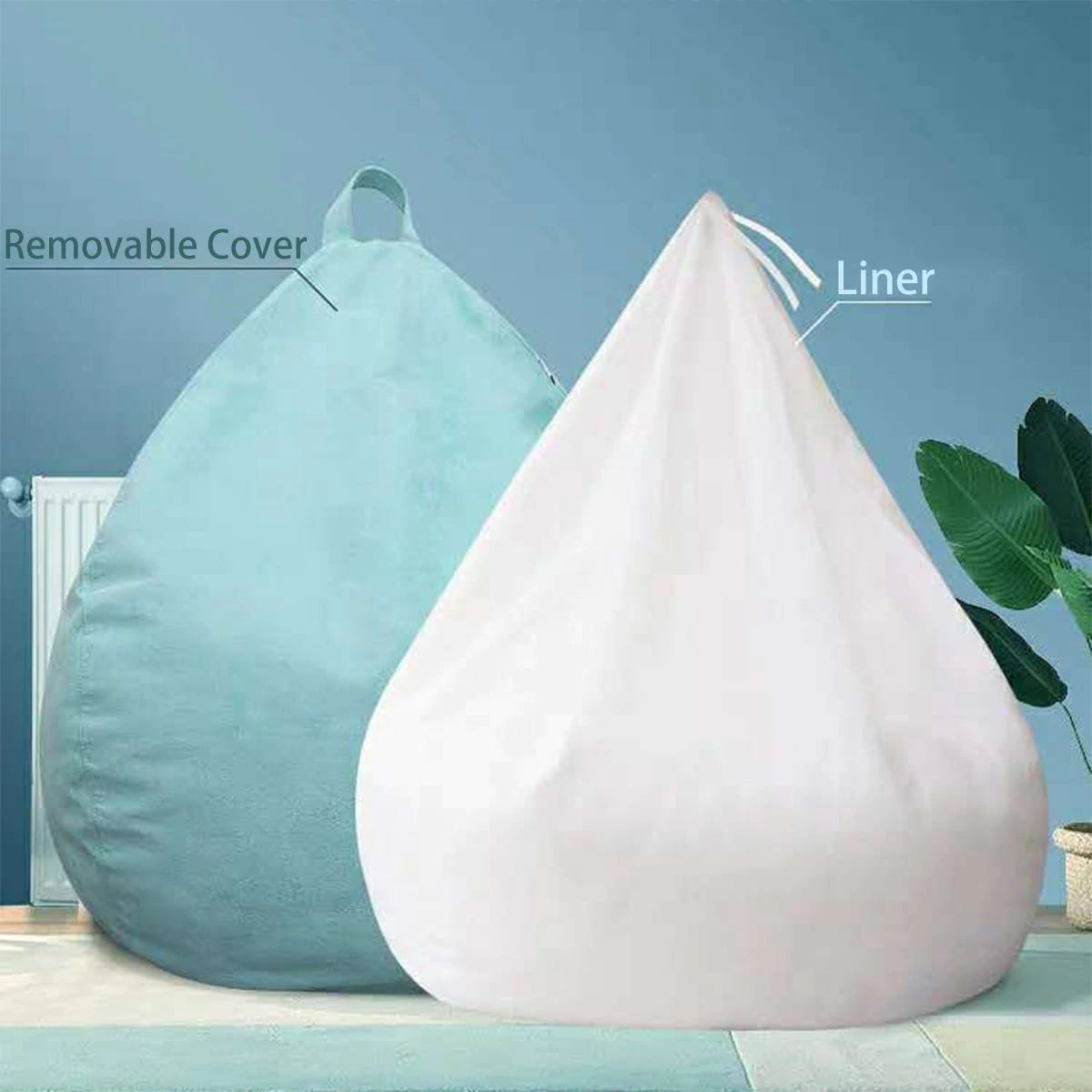 bean bag with liner and removable cover