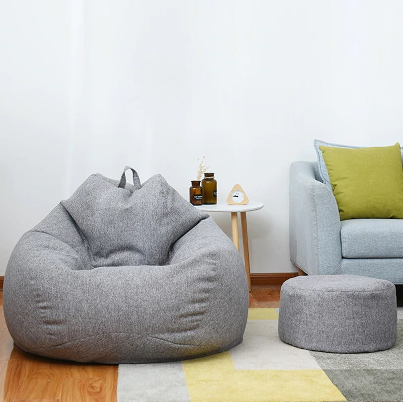 Large Bean bag with small round mini beanbag