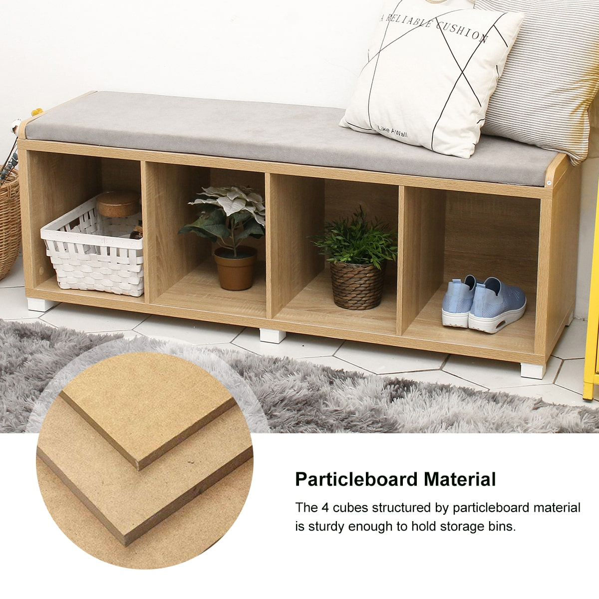 storage bench particleboard