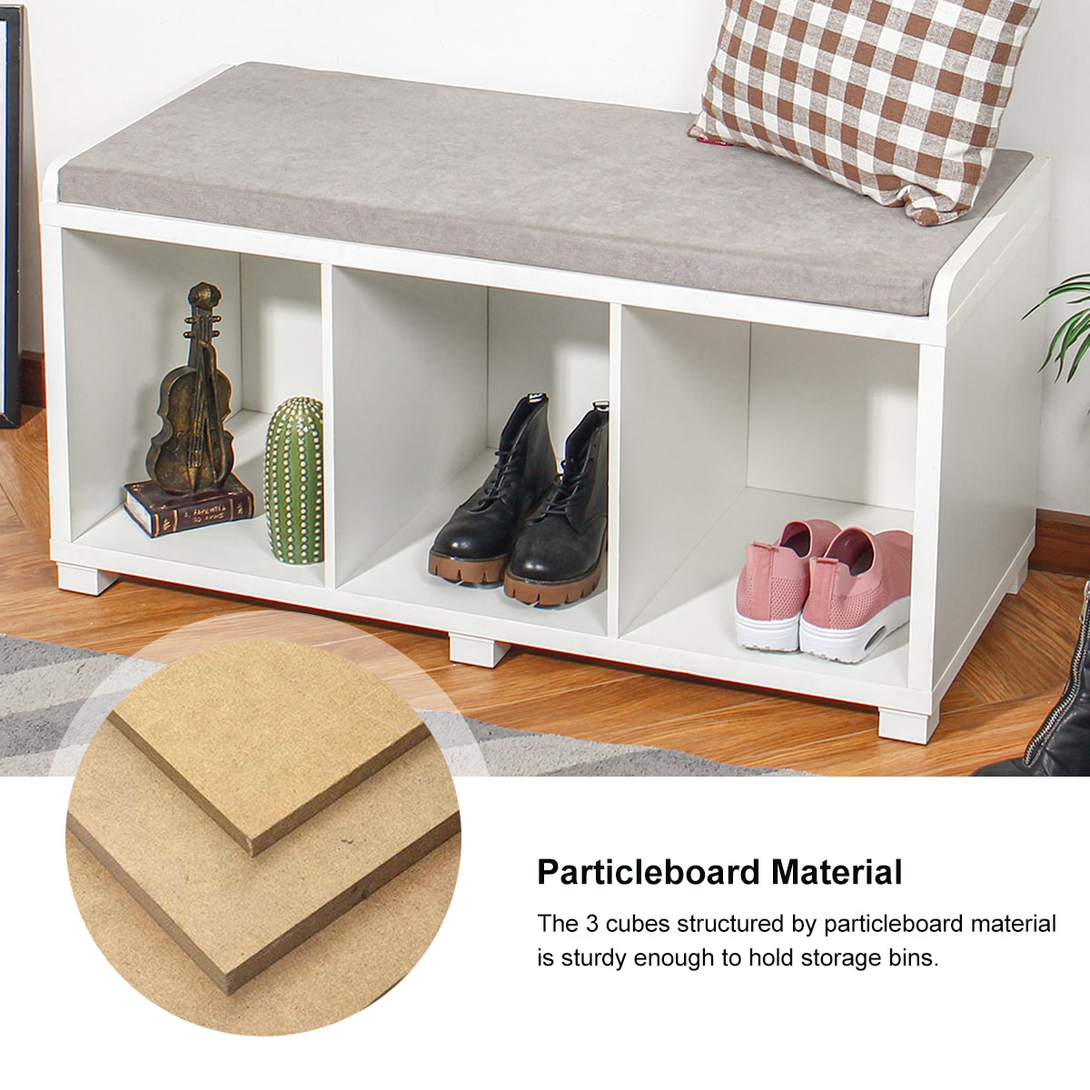 storage bench particle board