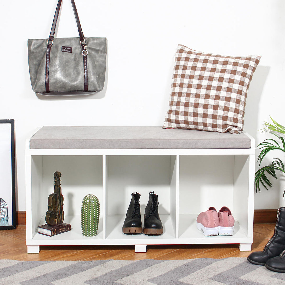 HomeDesign™ Modern Three Cube Storage Bench