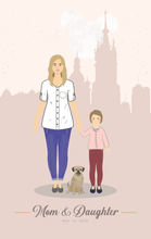 Personalized Portrait Illustration with City Landmarks