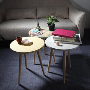 HomeDesign™ Classic Round Wood End Table
