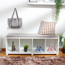 HomeDesign™ Modern Four Cube Storage Bench