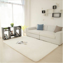 white area rug with furniture