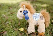 Plush Horse Stuffed Animal Soft and Huggable Toy for Kids With Saddle
