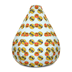 Emoji Large Bean Bag Chair With Filling
