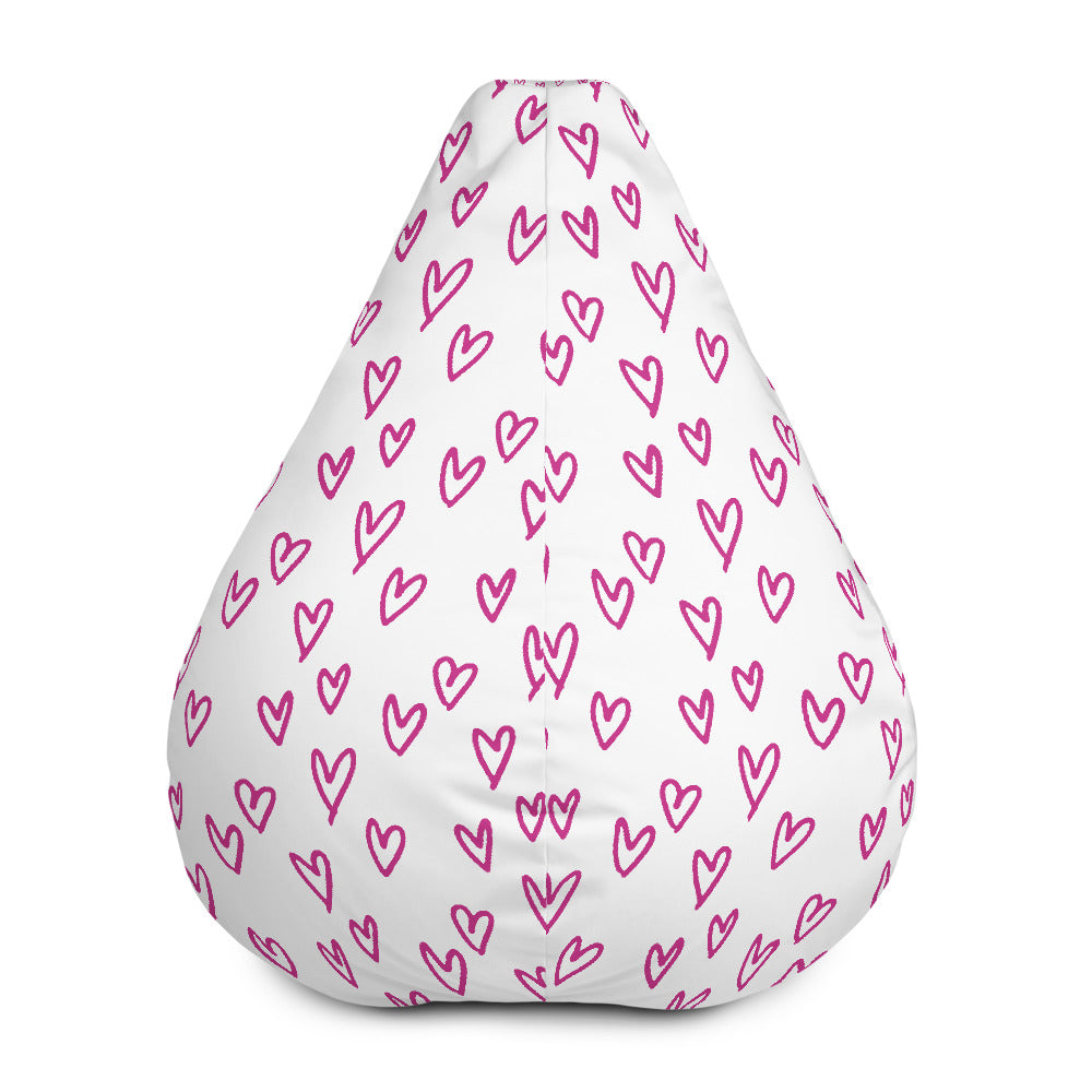 Heart Shape Large Bean Bag Chair With Filling