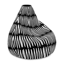 i-kibo™ Jagged Line Bean Bag Chair with Filling Available in Nine Colors